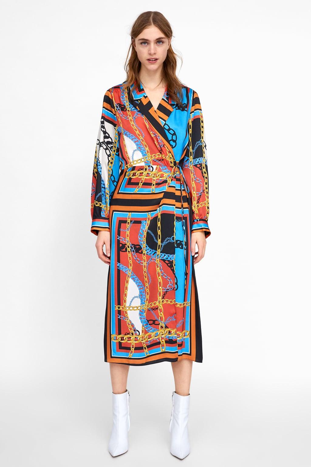 robe imprimé chaine