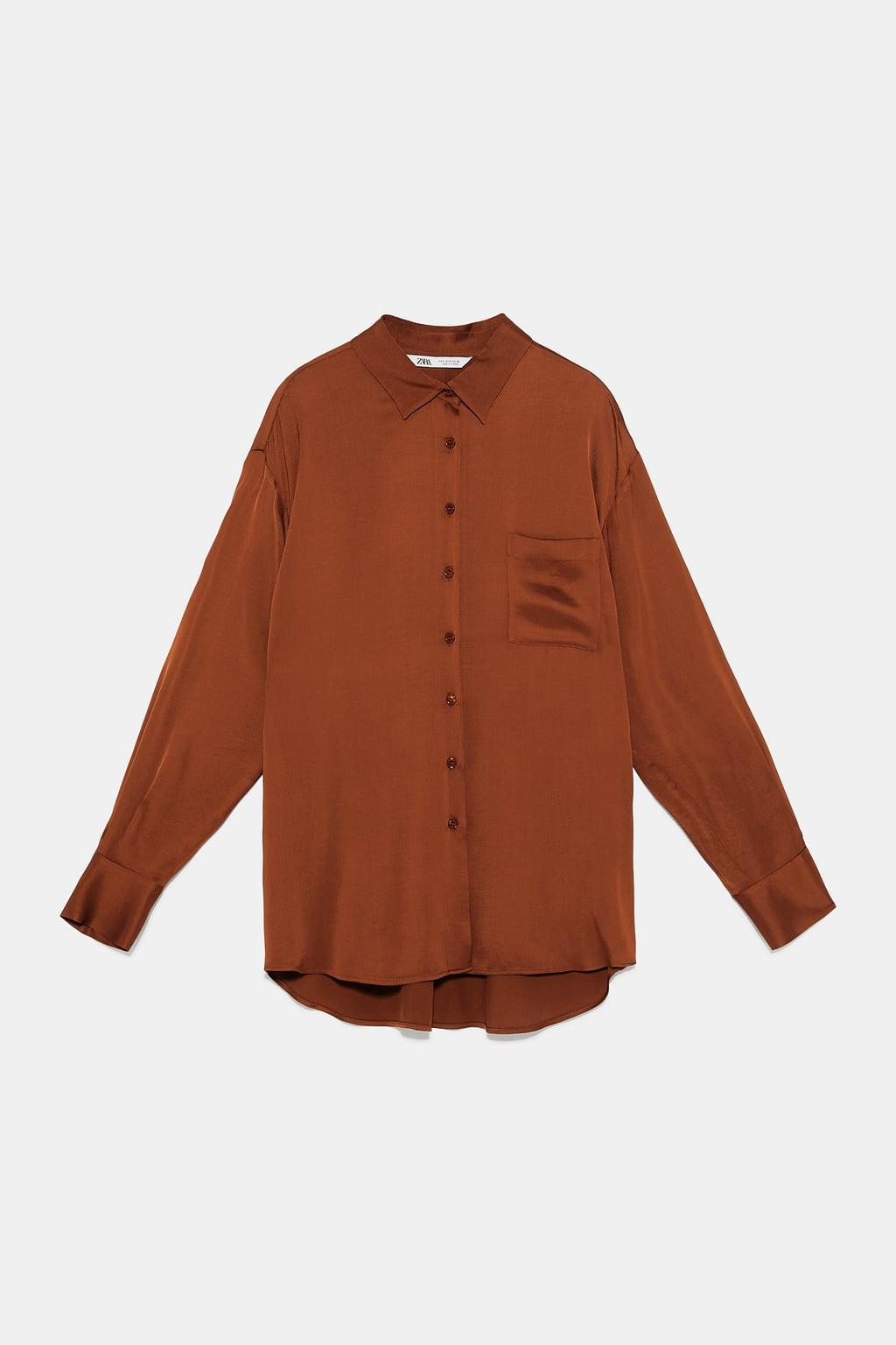 chemise marron zara