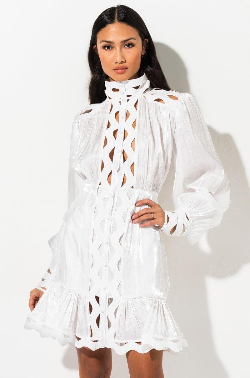 robe blanche shop akira