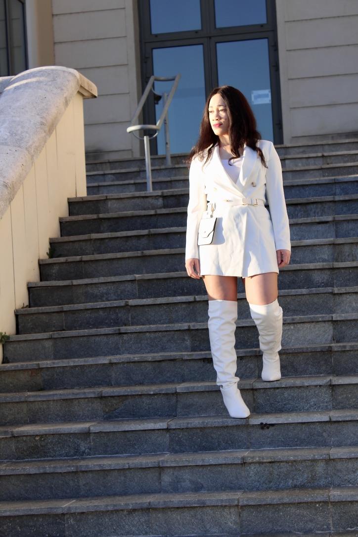 look robe blazer blanche