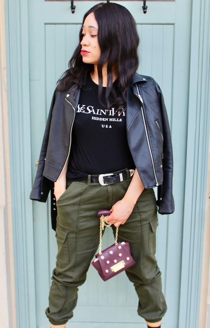 inspiration mode look utilitaire kaki et noir