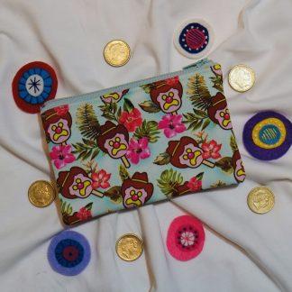 tropical ice cream coin purse
