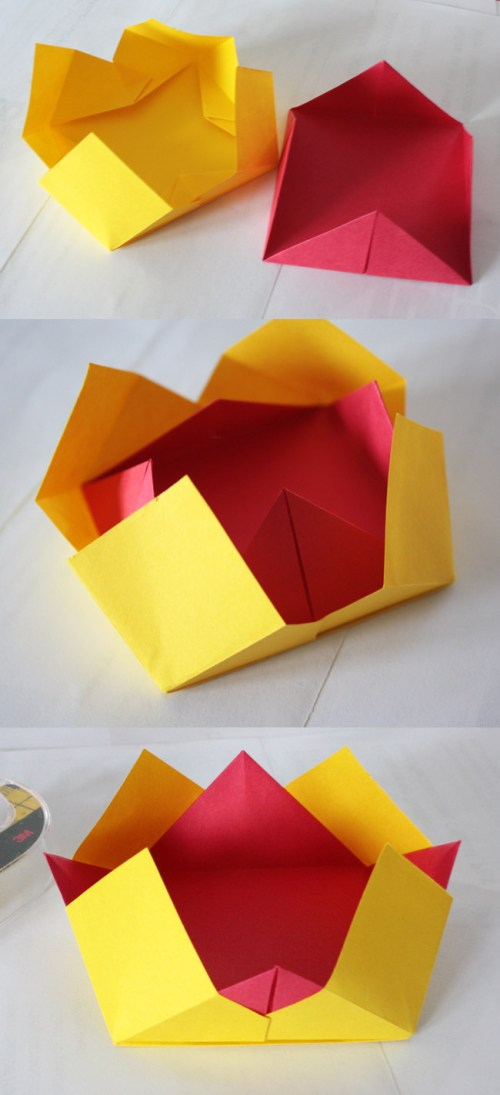 small resolution of origami bowls made from fabulous origami boxes by tomoko fuse