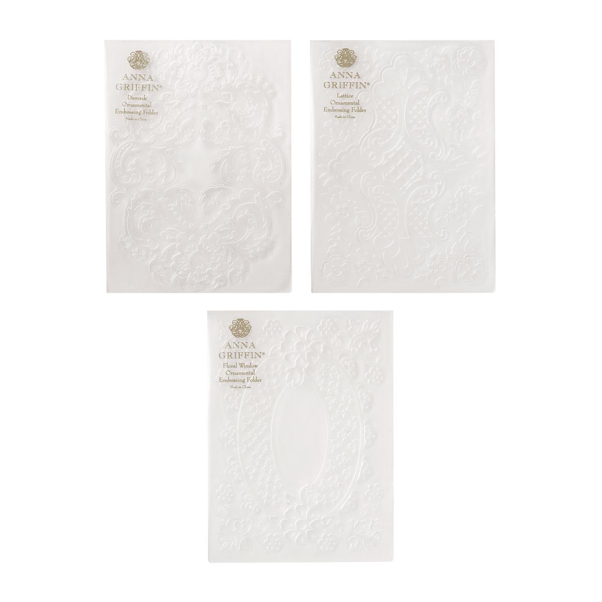 ornamental 3d embossing folders