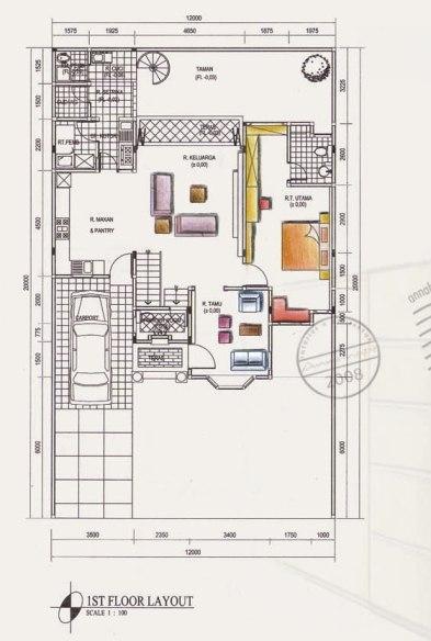 layout  ANNAHAPE STUDIO Desain Rumah Desain Interior