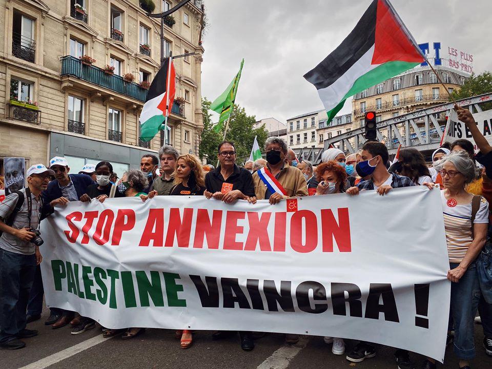 Manifestation en solidarité avec le peuple palestinien contre l'annexion de la Cisjordanie