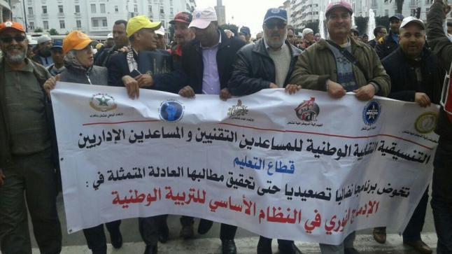 وقفة احتجاجية يوم 20 يناير 2020 أمام الموارد البشرية بالرباط
