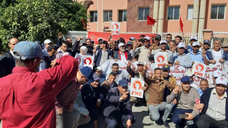 عمال الحراسة والنظافة يعلقون الوقفة الاحتجاجية والاعتصام