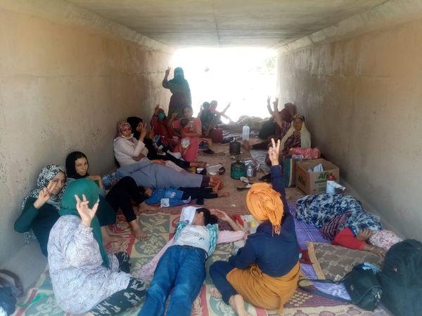 القطاع النسائي للنهج الديمقراطي يتضامن مع نضالات عائلات المعتقلين السبعة ويطالب بأطلاق سراح  جميع ضحايا النظام الطبقي