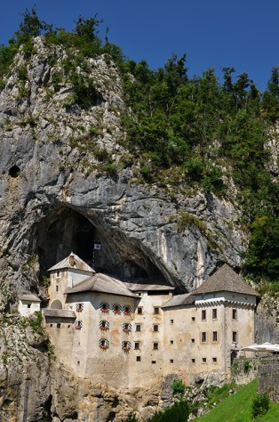 Impressive View of the Largest Castle above a Cave