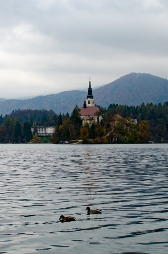 Bled Island on a Cloudy Day