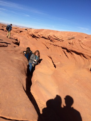 Exit from lower Antelope canyons