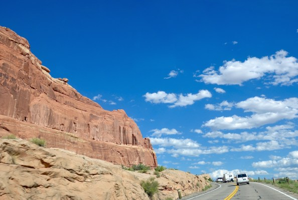 Entering Arches national park