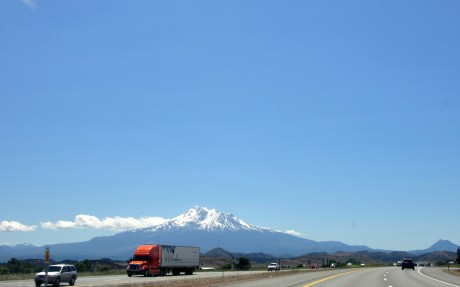 I-5 South with Mt.Shasta