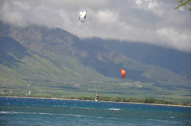 Kite surfing in Kihei