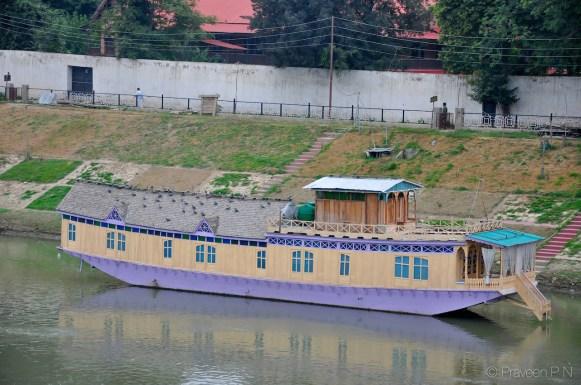 Houseboat on Jhelum river