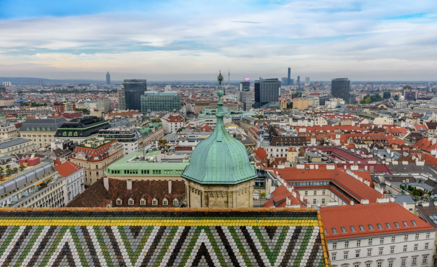 Vienna skyline from St.Stephan's