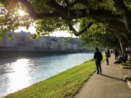 Strolling by Salzach river