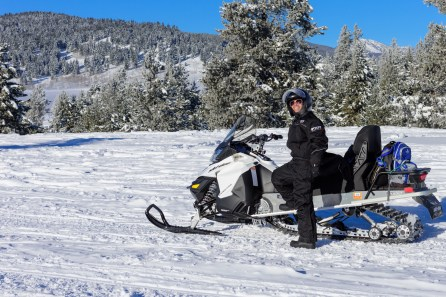 Snowmobiling in Gallatin national forest