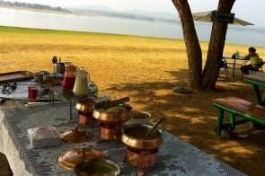 Breakfast buffet by the river
