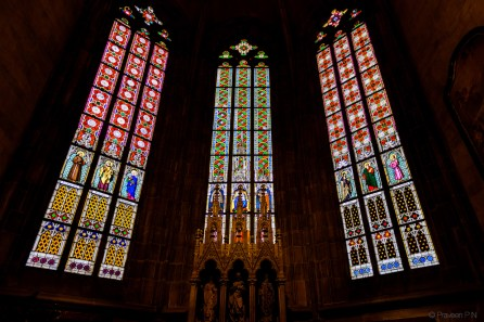Windows of St. Vitus cathedral