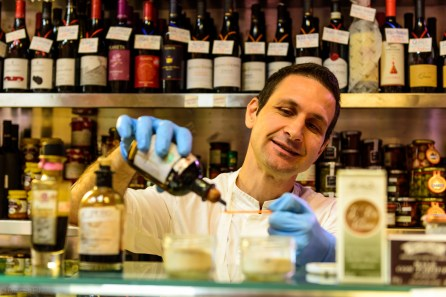 Aged balsamic vinegar at Volpetti