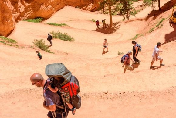 Hiking Navajo trail Bryce canyon national park
