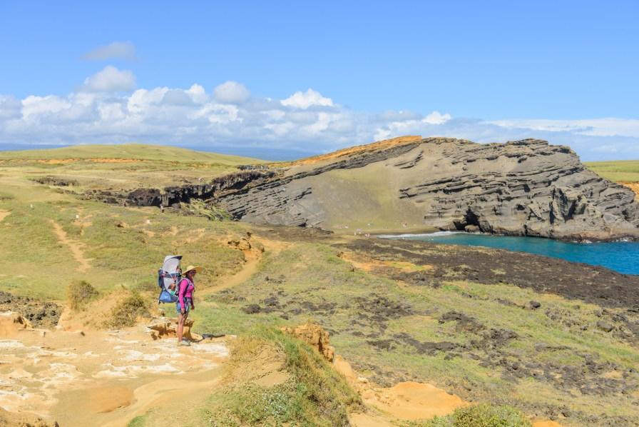 Cliff near green sand beach