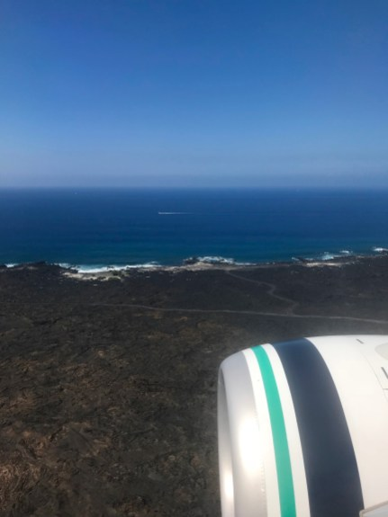 Landing in Kona airport