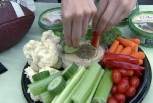 Tailgating veggies and dip