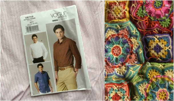 Vogue men's shirt and Eastern Jewels Persian Tiles motifs