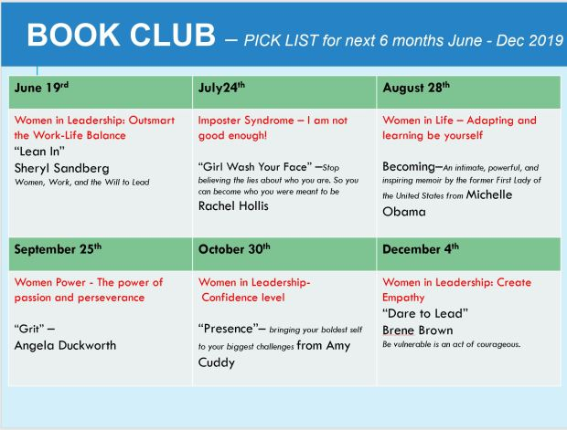 Book Club_Morris Plains_schedule