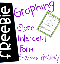 Graphing Slope Intercept Form Activities - Anna Kelly's Creations [ 2400 x 2400 Pixel ]