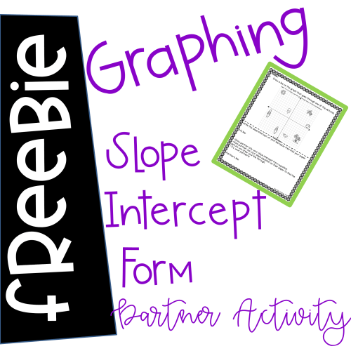small resolution of Graphing Slope Intercept Form Activities - Anna Kelly's Creations