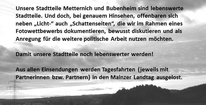 Fotowettbewerb der SPD Metternich-Bubenheim:  Die Sieger stehen fest