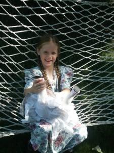Mary on hammock