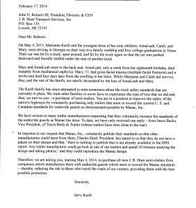 Trailer Buyer Letter JB Hunt February 2014