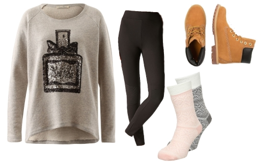 Sweater Leggings Boots Winter