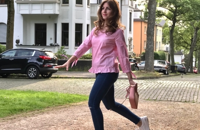 Outfit: Sommer Streifen Bluse