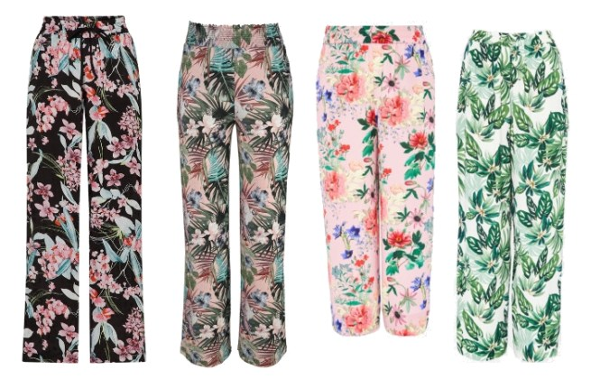 Floral Outfit Palazzo Hose Hallhuber About You Frühling Annalena Loves
