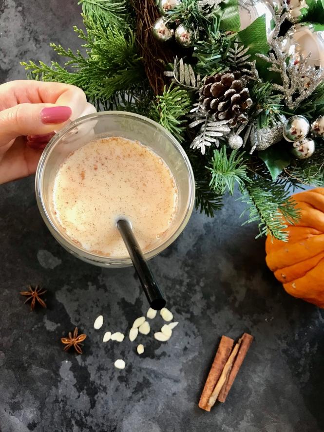 mandelmilch rezept weihnachten gesund kalorienarm nussmilch