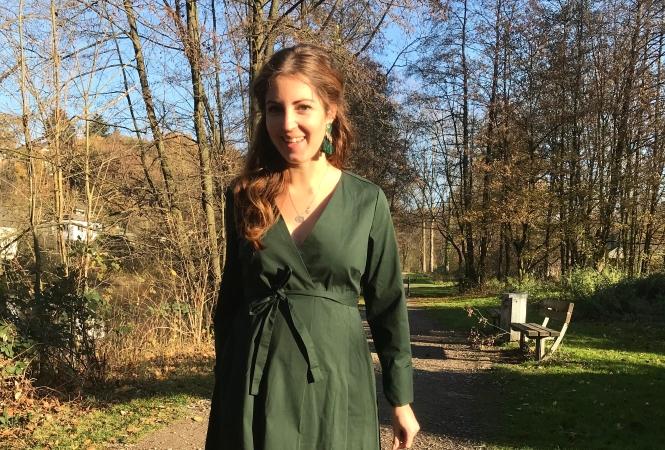 Mami Outfit: Wickelkleider für die Schwangerschaft