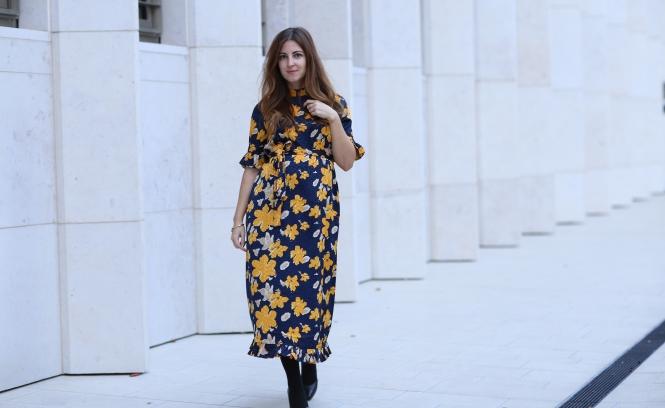 blumenkleid annalena loves schwangerschaft kleid asos