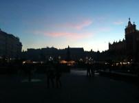Main market at dusk