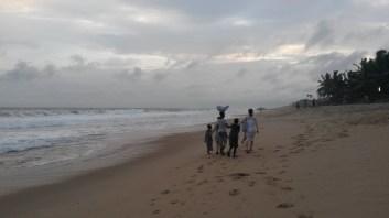 "Cape Coast beach with some ""obruni"""