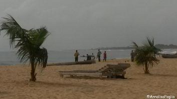 Pescatori sulla spiaggia di Keta