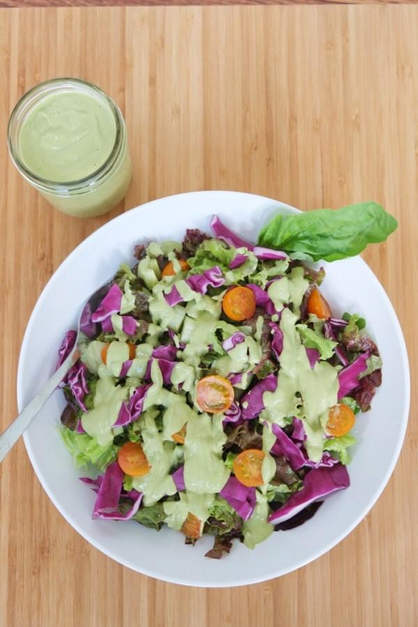 Creamy Vegan Basil Salad Dressing Annalisa