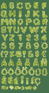 salad-font-alphabet