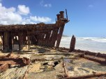la barca giapponese arenata a Maheno Wreck, dettagli (foto: Anna Luciani)