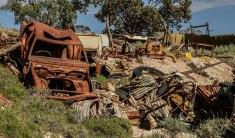 Coober Pedy. Post apocalyptic landscape. A Coober Pedy non si butta nulla... prima o poi può tornare utile (foto: Anna Luciani)